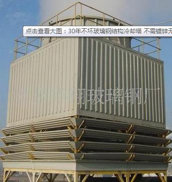 华翔 玻璃钢结构冷却塔 不需镀锌无钢结构件 电话议价图片