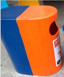 晟基  分开式玻璃钢垃圾桶  价格电议