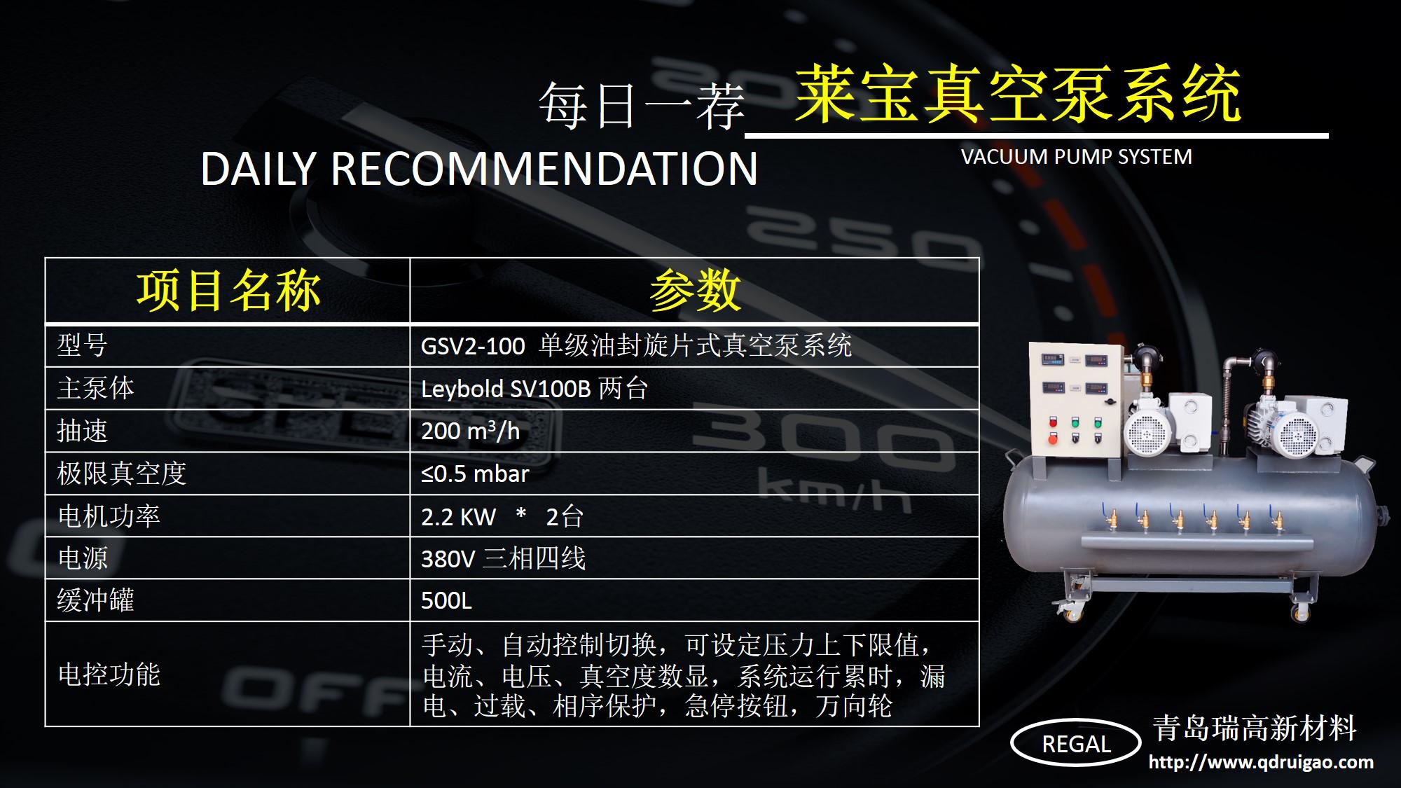莱宝真空泵系统图片