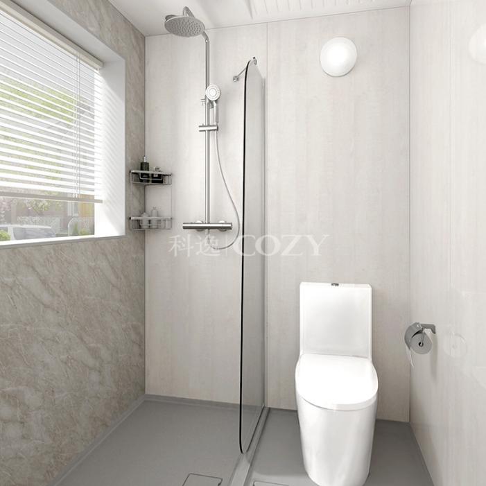 科逸整体浴室 卫生间装修 卫生间整装设计 一体式淋浴房装修 价格电议图片