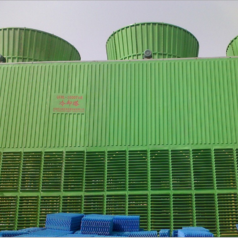 全玻璃钢结构防腐冷却塔 价格电议图片