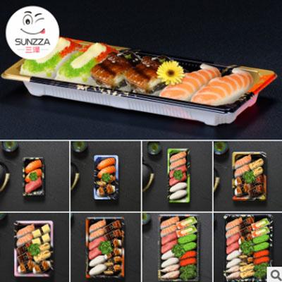 三泽A系列寿司盒工厂 0号-11号一次性印花塑料盒日韩料理打包外卖图片