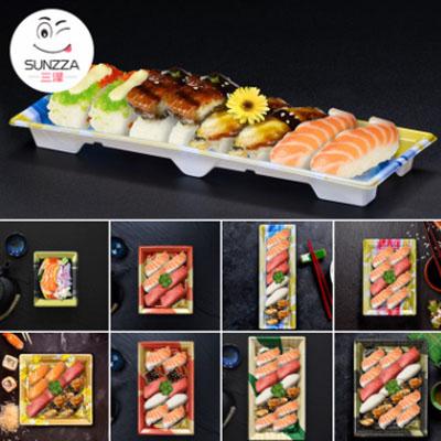 三泽C系 4贯-15贯一次性寿司盒打包盒塑料超市外卖便当包装盒日式图片